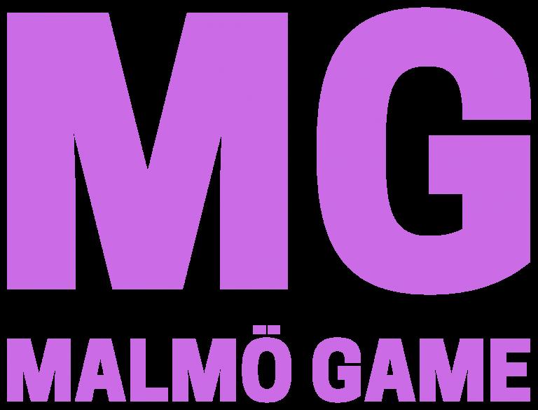 Logo Malmö Game, MG - malmogame.se - @malmogame malmogame