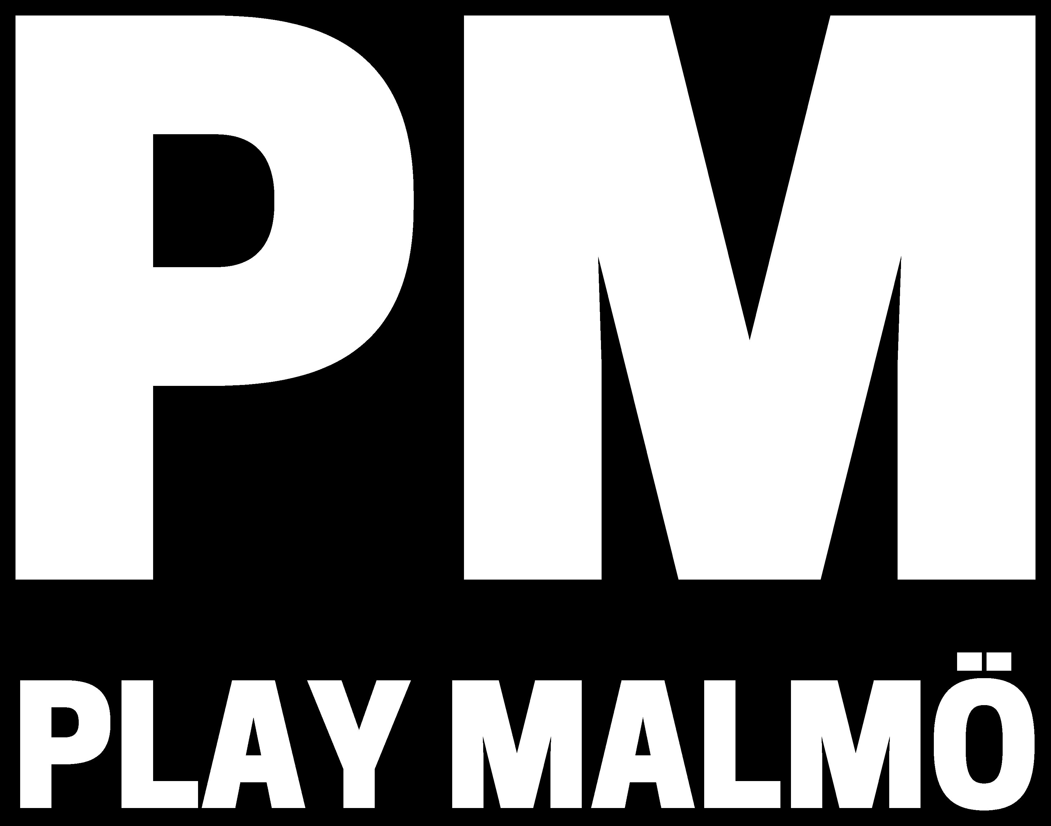 Logo We are PM - Play Malmö - Esports. Gaming. Streaming. - @playmalmo - playmalmo.se
